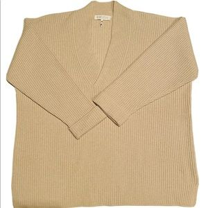 Escada Sweater Wool Silk Cashmere Ribbed V-neck